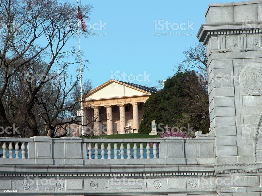 Arlington House 'Custis-Lee Mansion' royalty-free stock photo