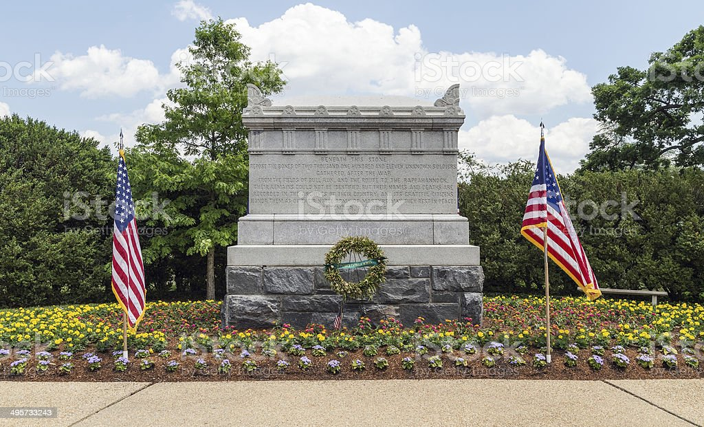 Arlington National Cemetery - Civil War Unknowns Monument stock photo