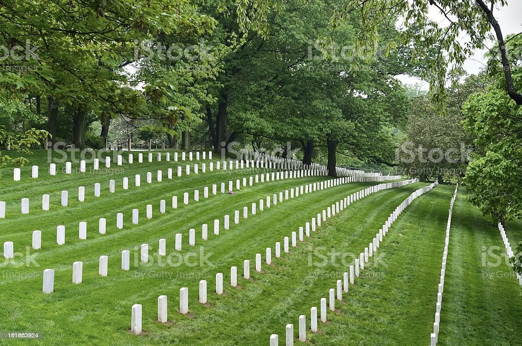 Arlington National Cemetery Hillside stock photo