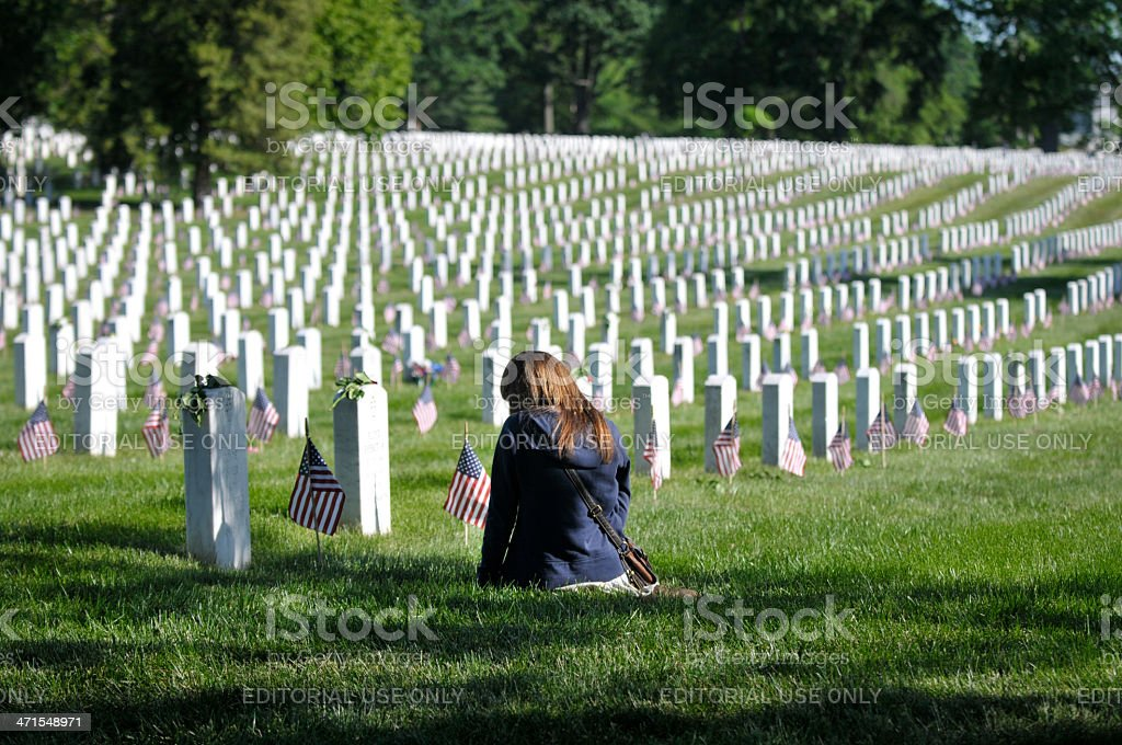 Arlington National Cemetery, Memorial Day stock photo