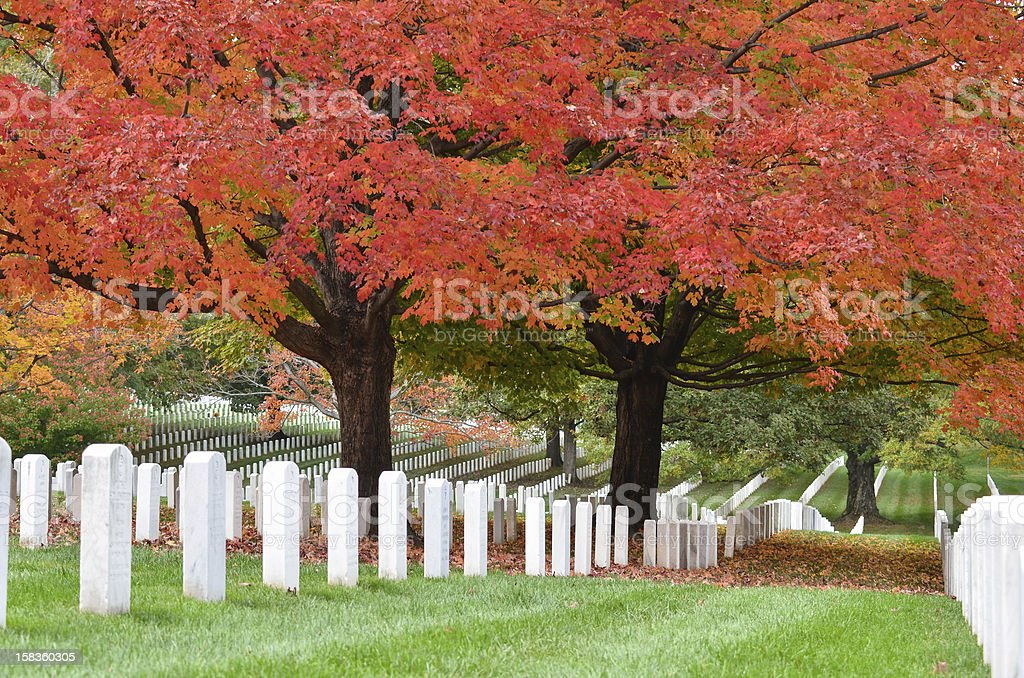 Arlington National Cemetery near to Washington DC, in Autumn stock photo