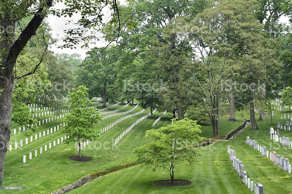Arlington National Cemetery Red Spring Creek royalty-free stock photo