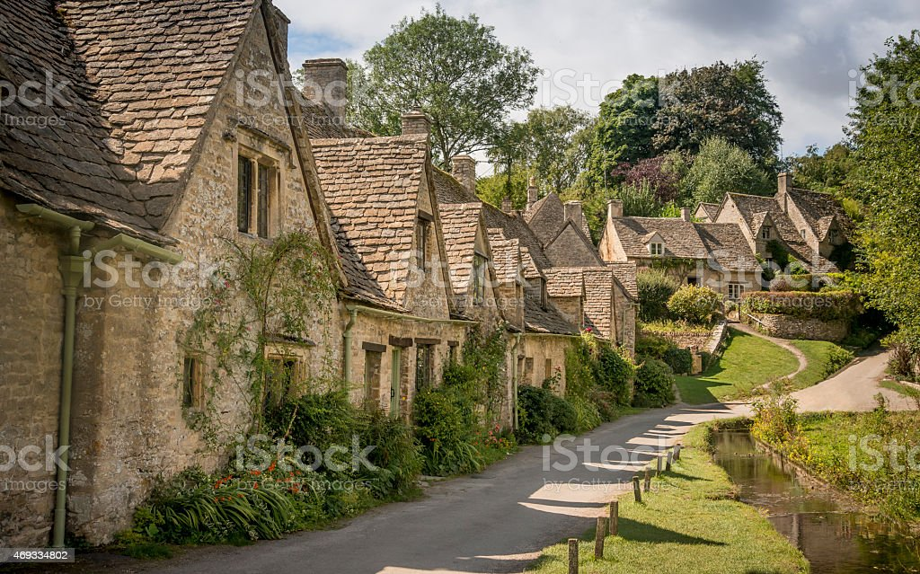 Arlington Row, Bibury stock photo