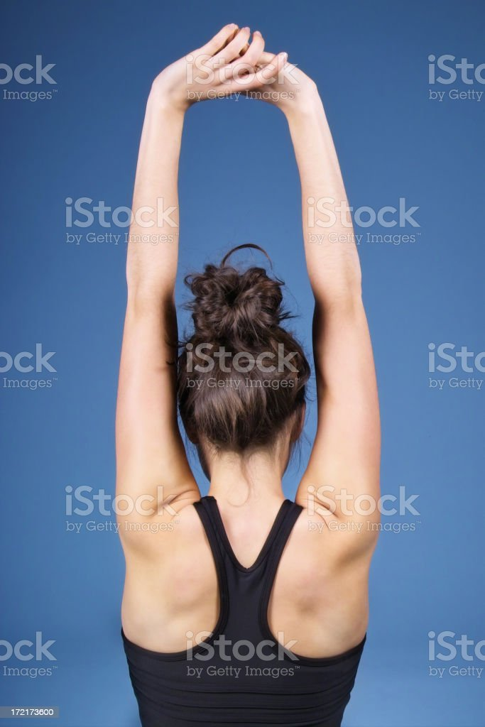 Arm and Back Stretch stock photo