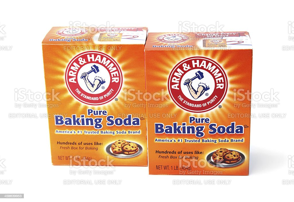 Arm and Hammer Baking Soda stock photo