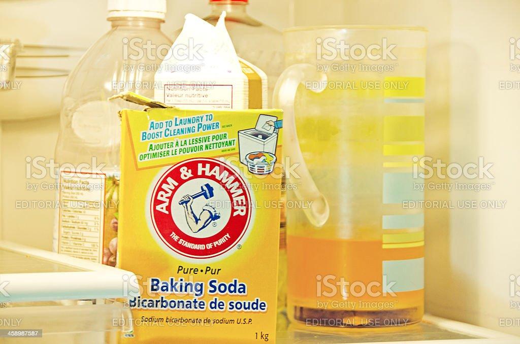 Arm and Hammer Baking Soda royalty-free stock photo