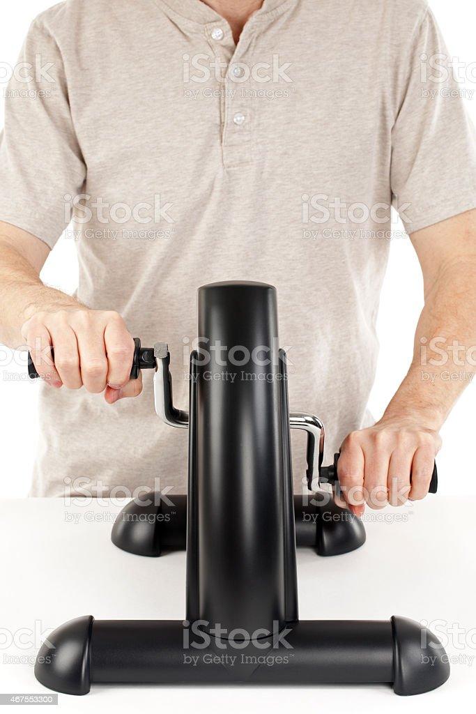 Arm Exercise Machine stock photo