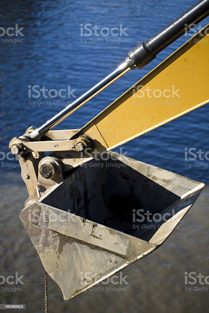 Arm of Digging Crane royalty-free stock photo