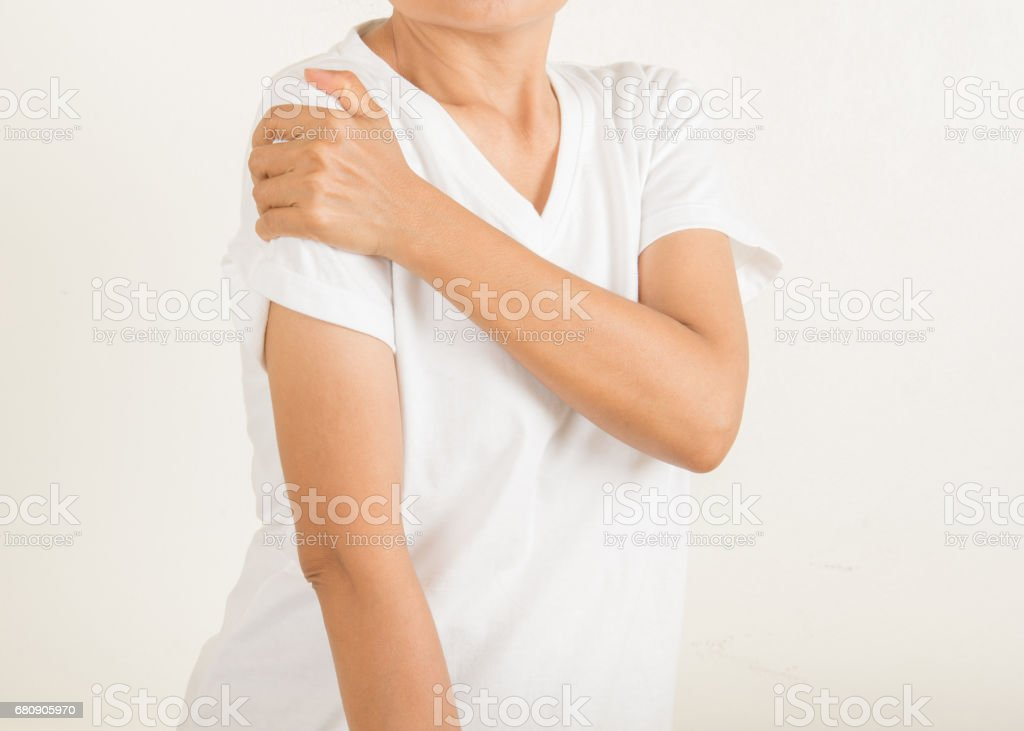 Arm Pain  in old women royalty-free stock photo
