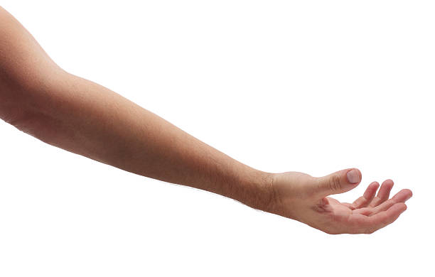 Arm Reaching Out to Help on White stock photo