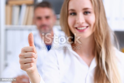 526837216 istock photo Arm show OK or confirm with thumb up 846400574