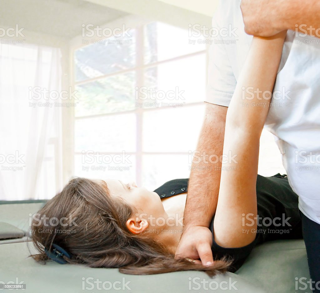 Arm stretching royalty-free stock photo