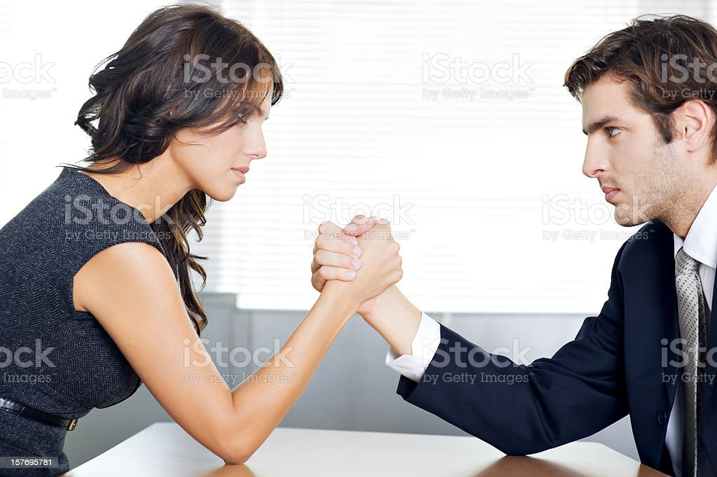 Arm Wrestling Business royalty-free stock photo