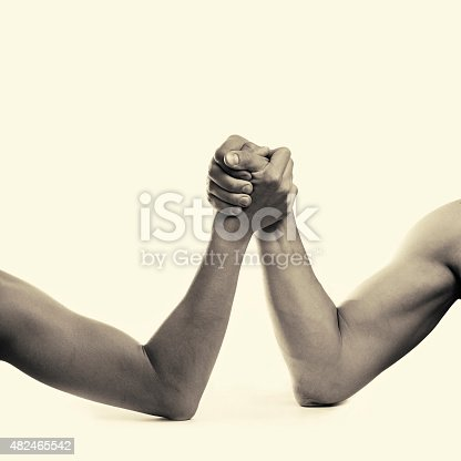 two hands depicting the rivalry of men and women