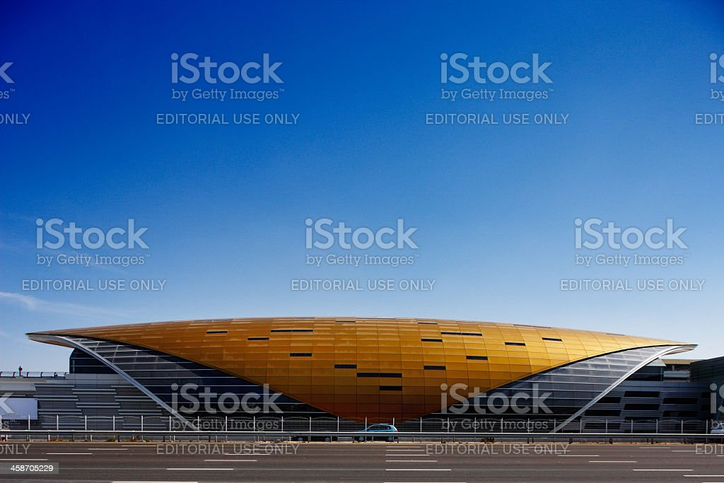 Armadillo like structure of the Dubai Metro Station stock photo