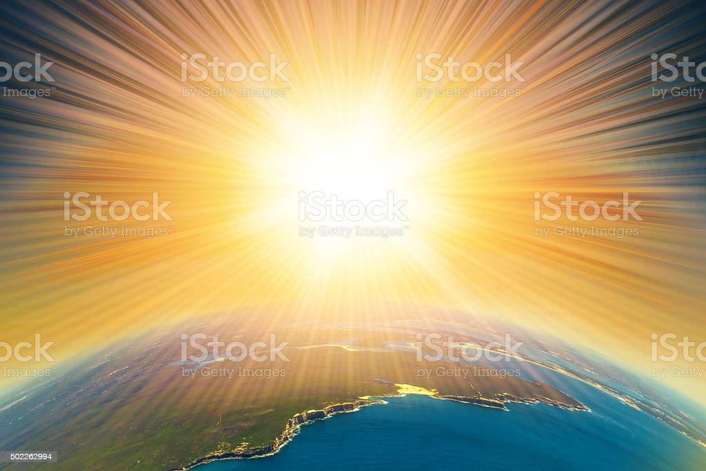 Armageddon on Earth stock photo