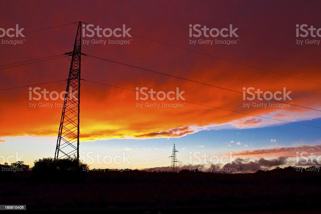 Armageddon sunset - red burning sky royalty-free stock photo