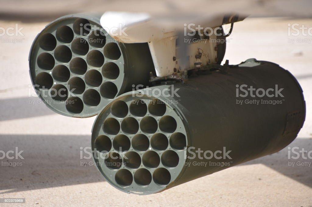 Armament of a combat aircraft stock photo