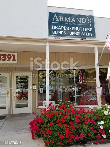 Lafayette, California, United States - January 01, 2019: Photograph of Armand's Drapery, Shutters & Upholstery, a furniture store in Lafayette, California, United States
