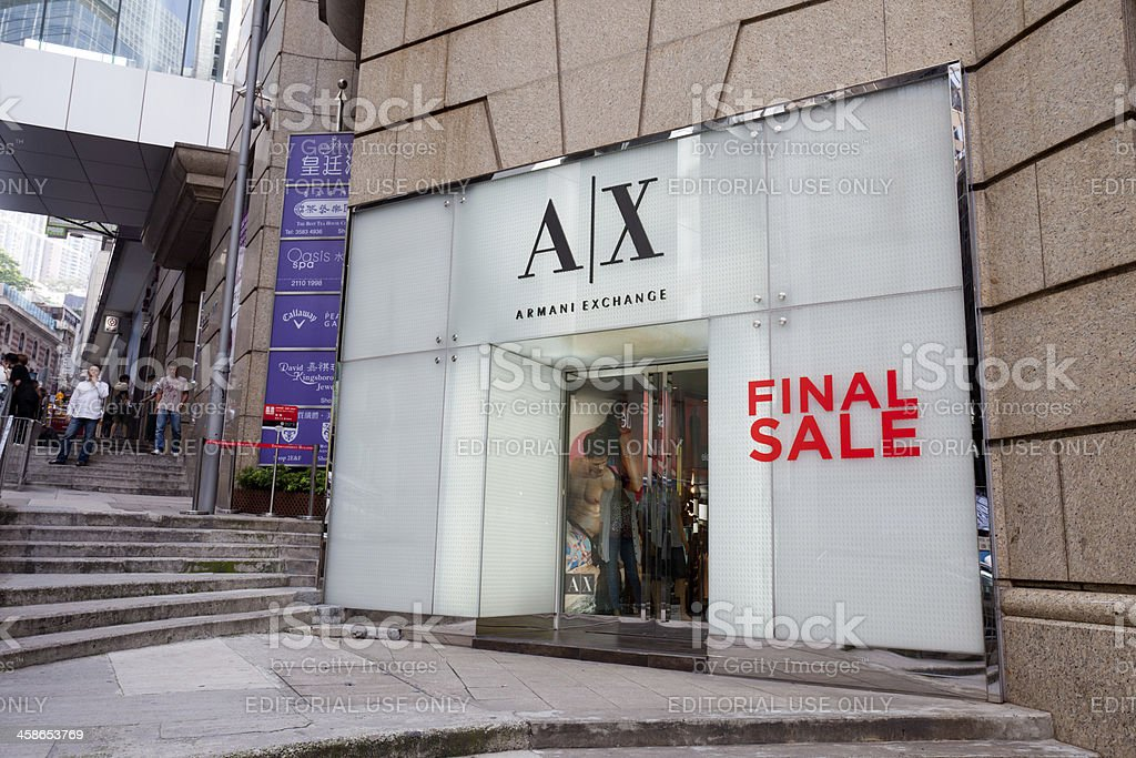 Armani Exchange Flagship Store in Hong Kong stock photo