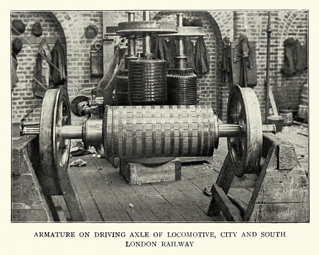Armature on driving axle of Locomotive, 1899