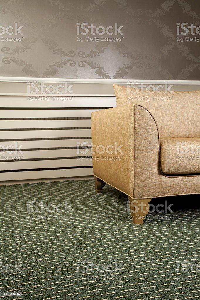 안락의자 및 카펫 royalty-free 스톡 사진