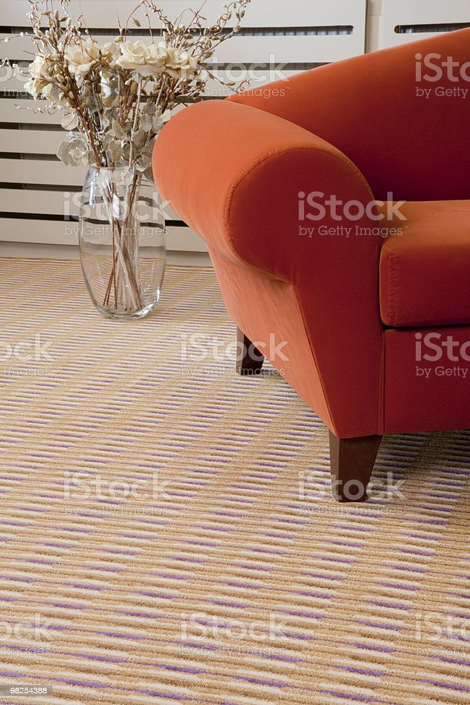 armchair and carpet royalty-free stock photo