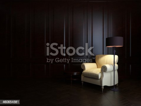 istock armchair and  floor lamp 460654581