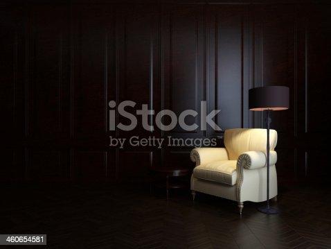 istock armchair and  floor lamp 460654581