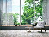Armchair in modern living room