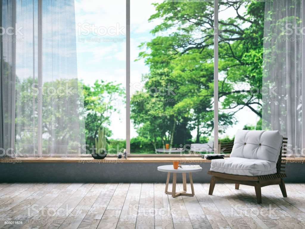Armchair in Living Room stock photo