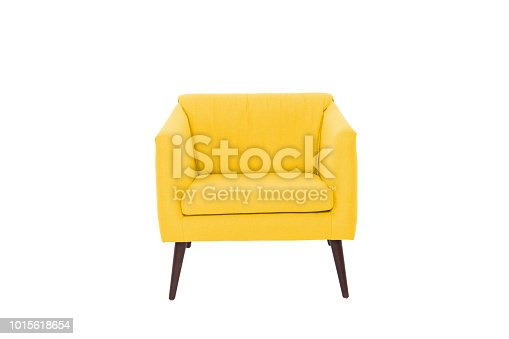 armchair. Modern designer chair on white background. Texture chair.
