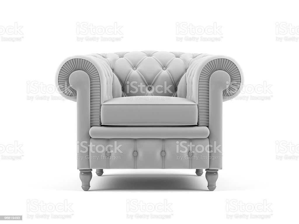 Armchair on a white background stock photo