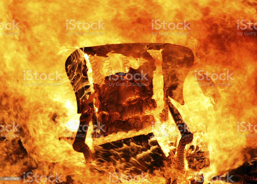 Armchair On Fire U0027hot Seatu0027 Royalty Free Stock Photo