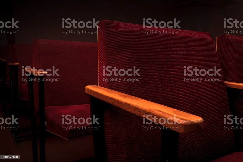 Armchairs in the cinema hall royalty-free stock photo