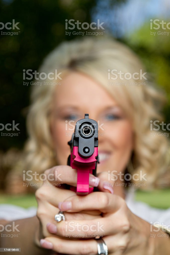 Armed American stock photo