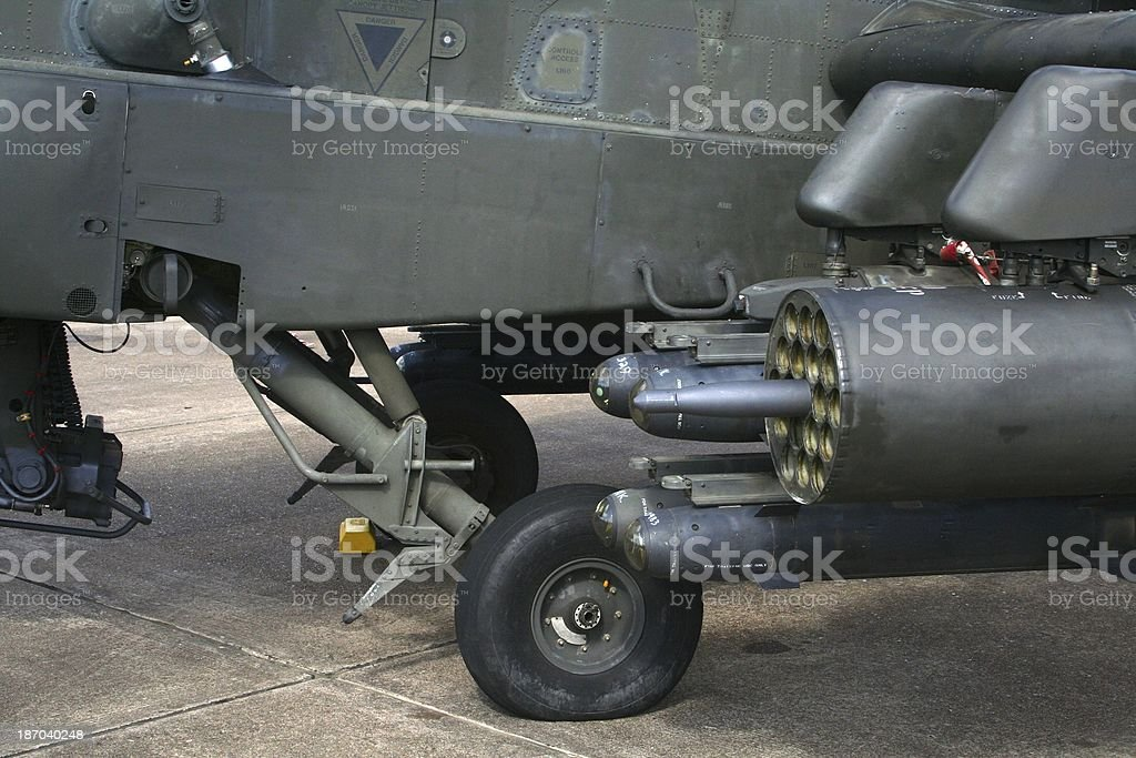 Armed Apache Helicopter royalty-free stock photo