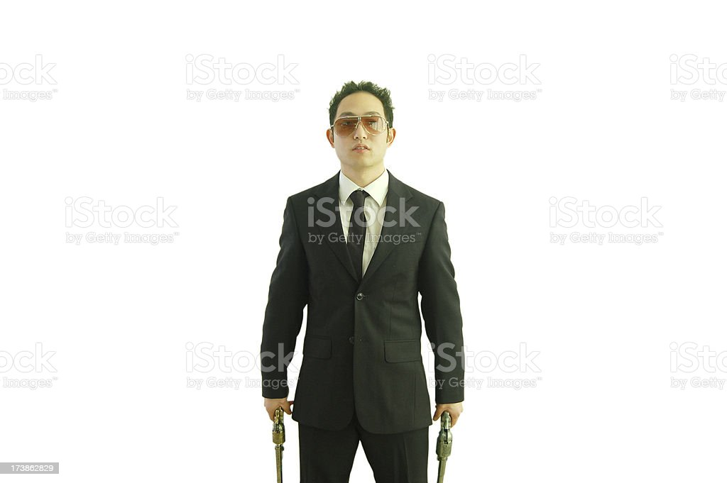 Armed Asian stock photo