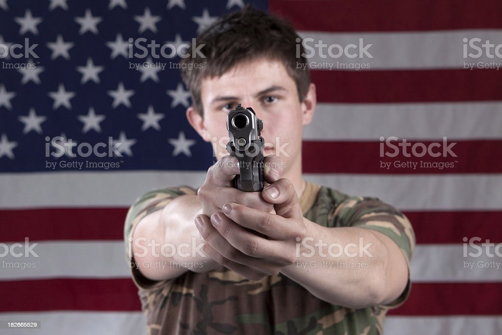 Armed Citizen stock photo