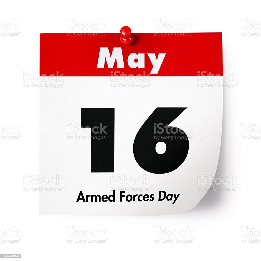 Armed Forces Day in 2015 stock photo