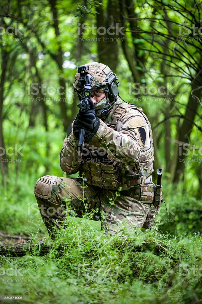 Special forces lurking in woods