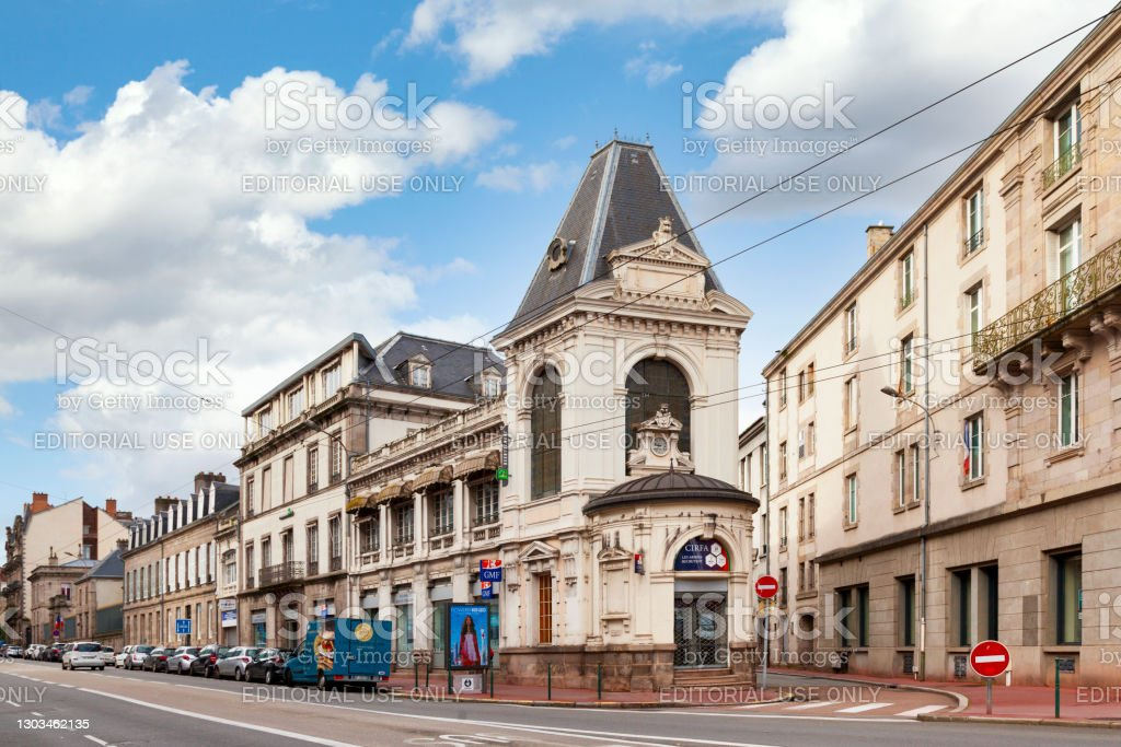 Armed Forces Information and Recruitment Center in Limoges Limoges, France - November 09 2019: The Armed Forces Information and Recruitment Center (French: Centre d'information et de recrutement des forces armées - CIRFA) in the city center, is the place to apply in the French navy. Architecture Stock Photo