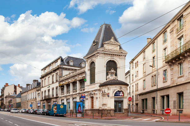 Armed Forces Information and Recruitment Center in Limoges stock photo