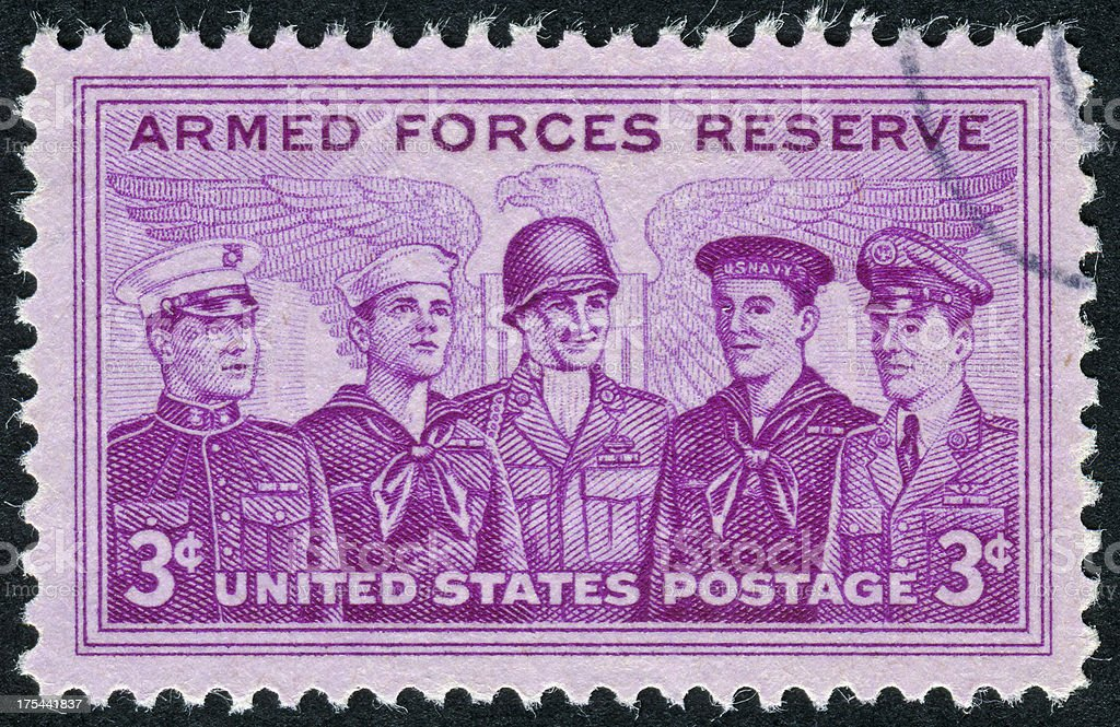 Armed Forces Stamp royalty-free stock photo