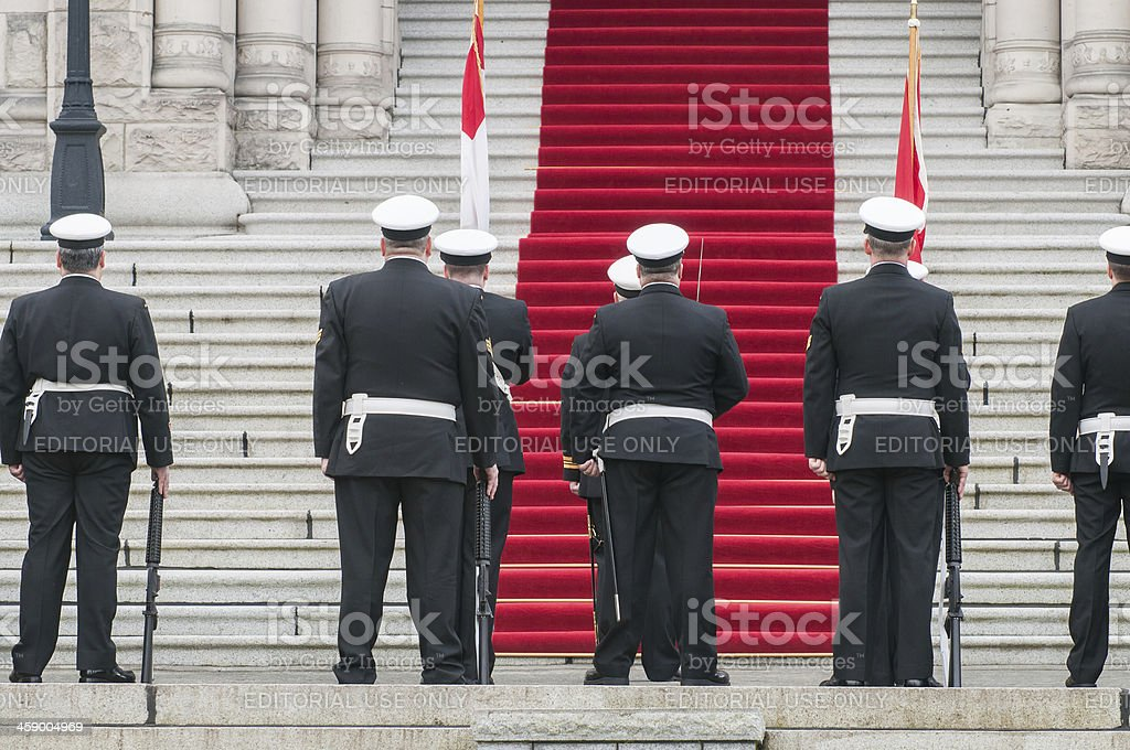 Armed Forces Waiting for Opening of New Session stock photo
