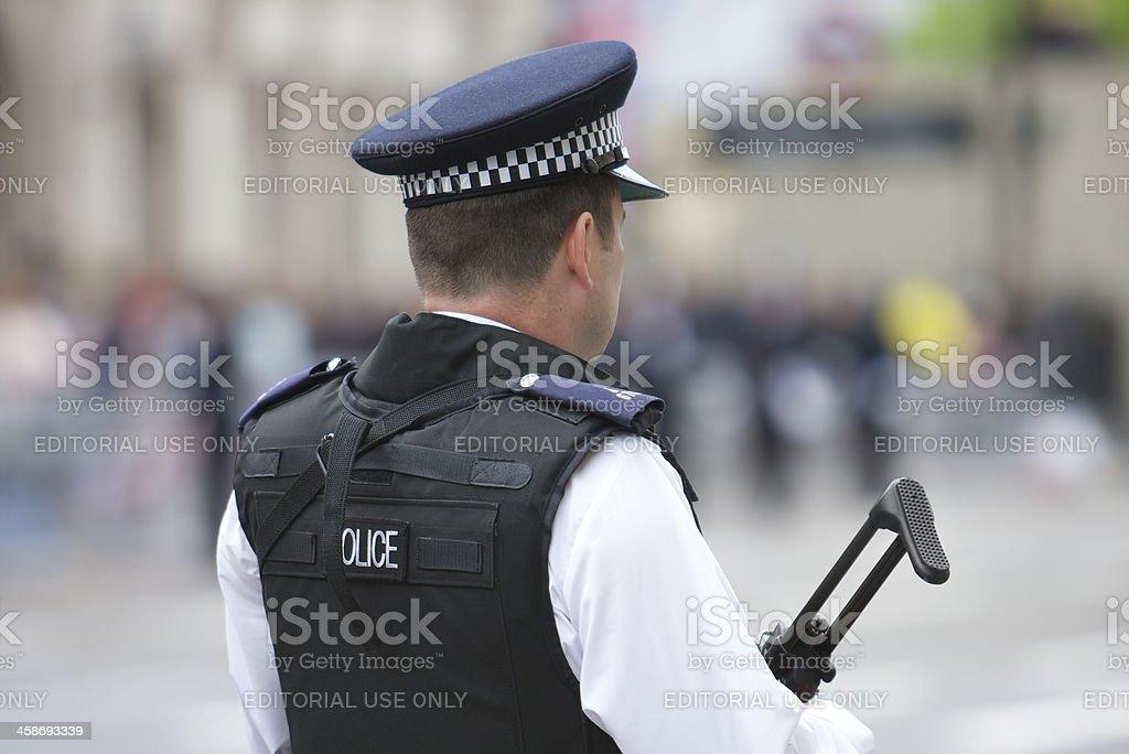 Policial armada plantão do Jubileu de Diamante da rainha - foto de acervo