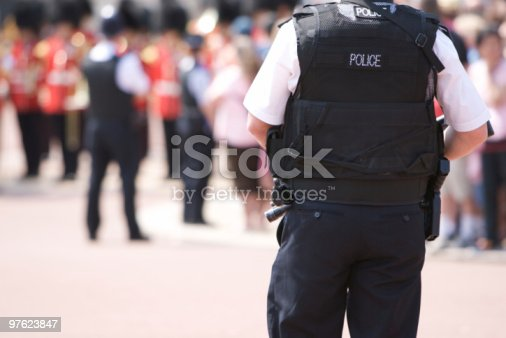 istock Armed Police Officer outside Buckingham Palace 97623847