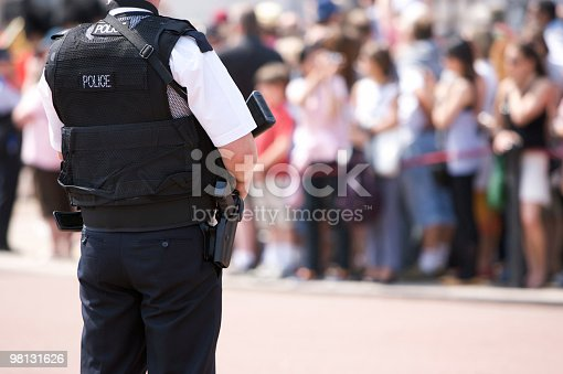 istock Armed Police Officer outside Buckingham Palace 98131626