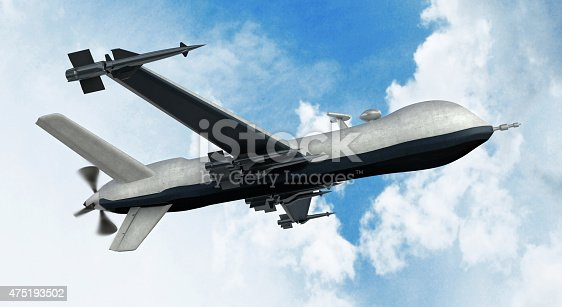 Armed Predator Drone Flying On The Sky Stock Photo More Pictures Of 2015