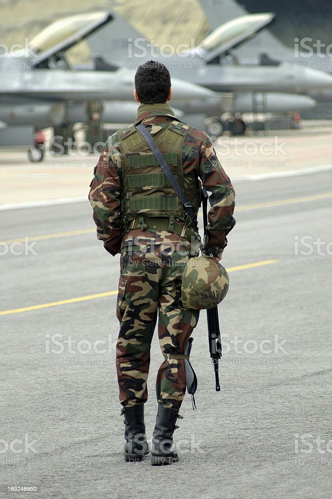 armed soldier stock photo